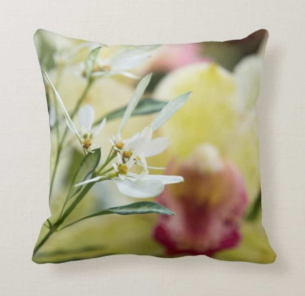 Another Pillow with a Beautiful Orchid