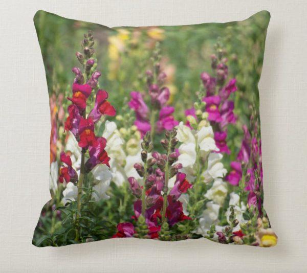 Pretty Pillow of Snapdragons