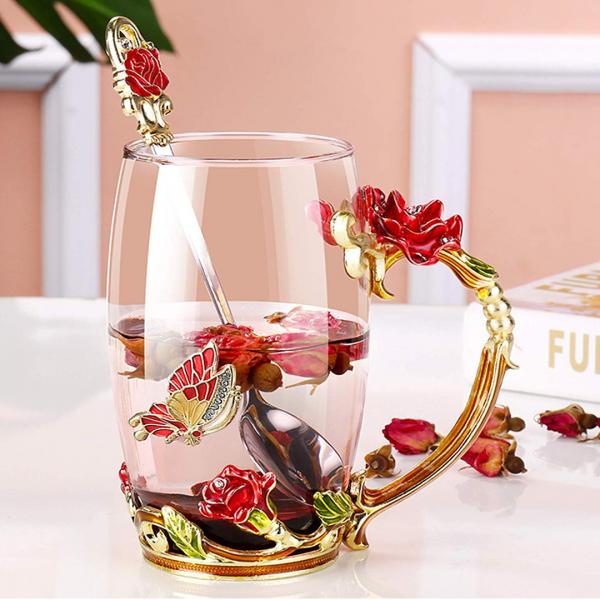 Butterfly Rose Mug