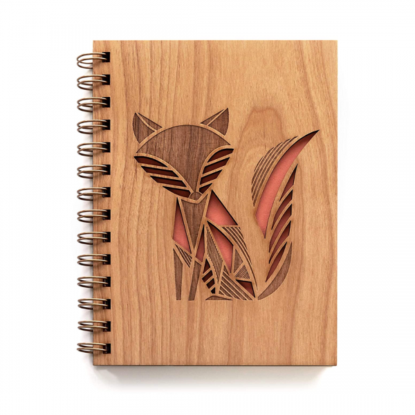 Fox Laser Cut Wood Journal