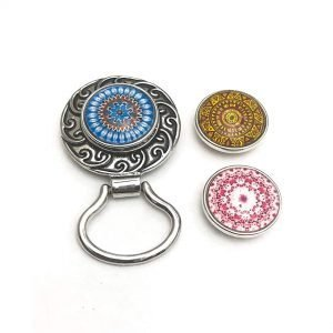 Boho Snap Button Eyeglass Brooch Holder