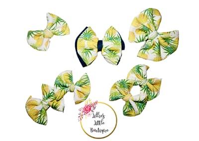 Juicy Pineapple Bows