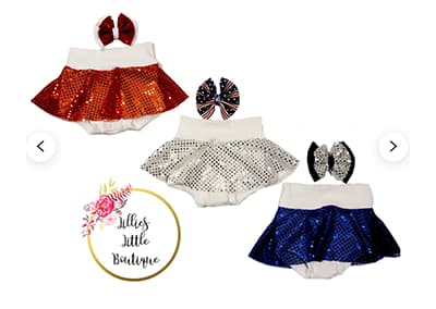 Sparkle Spangle Skirted Bummies and Bows