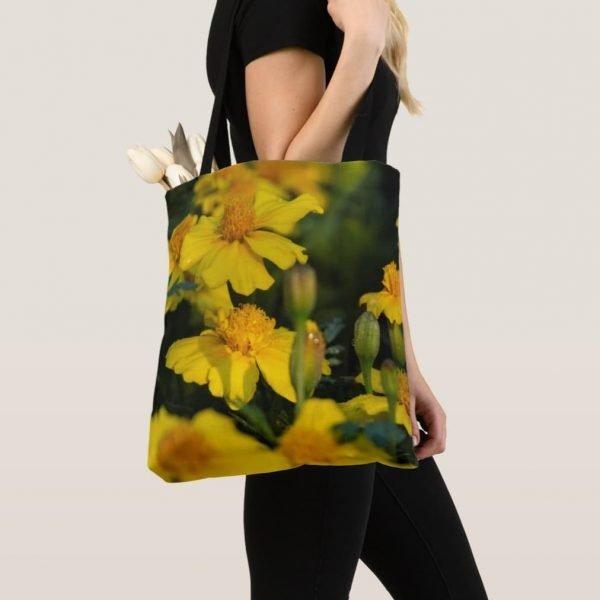 Sunshine Yellow Marigold tote Bag