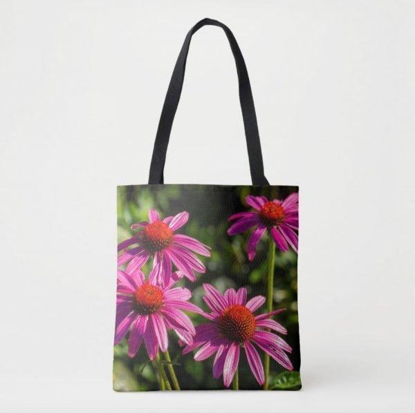 Perky Echinacea Tote Bag