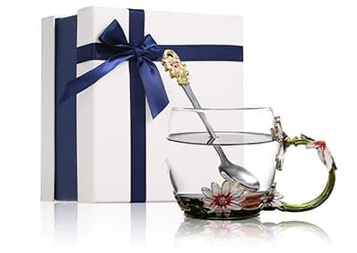 glass tea cup set